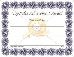 Sales Certificate Template In 2020   Certificate Templates for Best Sales Certificate Template