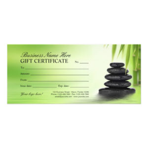 Salon Gift Certificates   Spa Gift Cards Template   Zazzle throughout Spa Gift Certificate