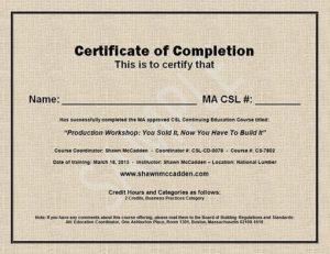 Sample Ma Csl Ceu Course Completion Certificate for Ceu Certificate Template