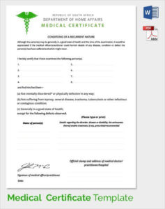 Sample Medical Certificate Download Documents Pdf Word Fake inside Free Fake Medical Certificate Template
