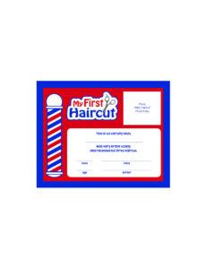 Scalpmaster My First Haircut Certificate, (1 Dozen) in First Haircut Certificate