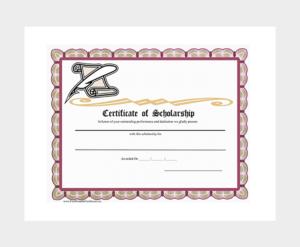 Scholarship Certificate Template – 7+ (Free Editable For intended for Fresh Scholarship Certificate Template