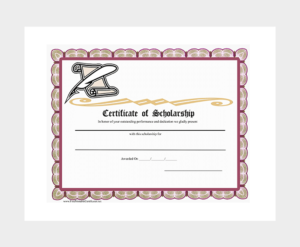 Scholarship Certificate Template – 7+ (Free Editable For regarding Scholarship Certificate Template