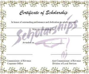 Scholarship Certificate Template | Graphics And Templates pertaining to Fresh Scholarship Certificate Template