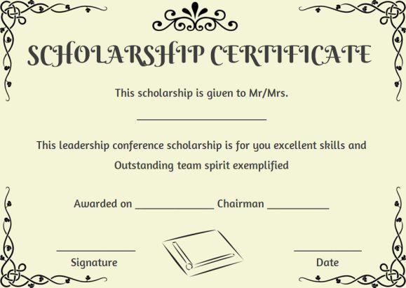 Scholarship Recipient Certificate Template | Certificate inside Scholarship Certificate Template