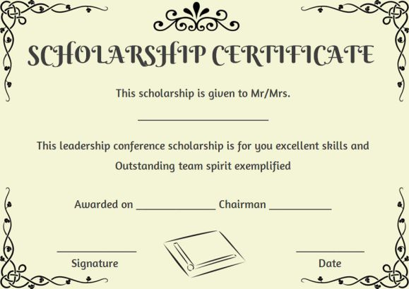 Scholarship Recipient Certificate Template | Certificate throughout Scholarship Certificate Template Word