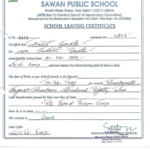 School Leaving Certificate | School Leaving Certificate With School Leaving Certificate Template