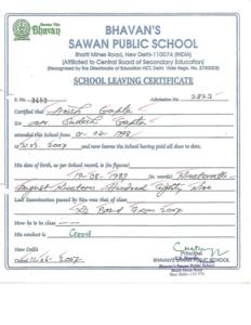 School Leaving Certificate   School Leaving Certificate with School Leaving Certificate Template