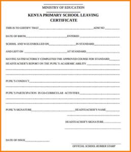School Leaving Certificate Template (1) – Templates Example with regard to School Leaving Certificate Template