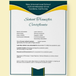 School Leaving Certificate Template (4) – Templates Example With Regard To Unique School Leaving Certificate Template