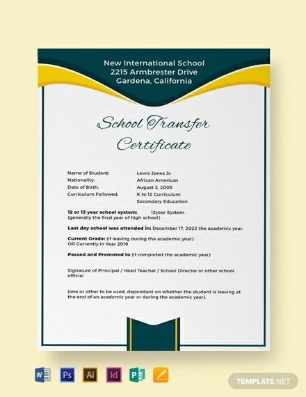 School Leaving Certificate Template (4) - Templates Example with regard to Unique School Leaving Certificate Template