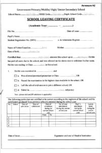 School Leaving Certificate Template In 2020 | School Leaving with regard to Leaving Certificate Template