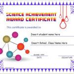Science Achievement Award Certificates | Word & Excel Templates With Unique Science Award Certificate Templates