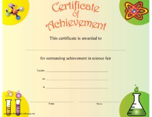 Science Achievement Certificate Printable Certificate with New Science Achievement Certificate Templates