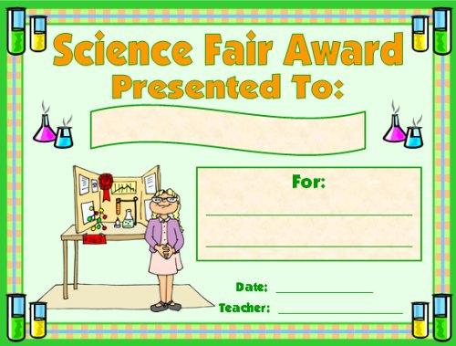 Science Award Certificates inside Science Fair Certificate Templates