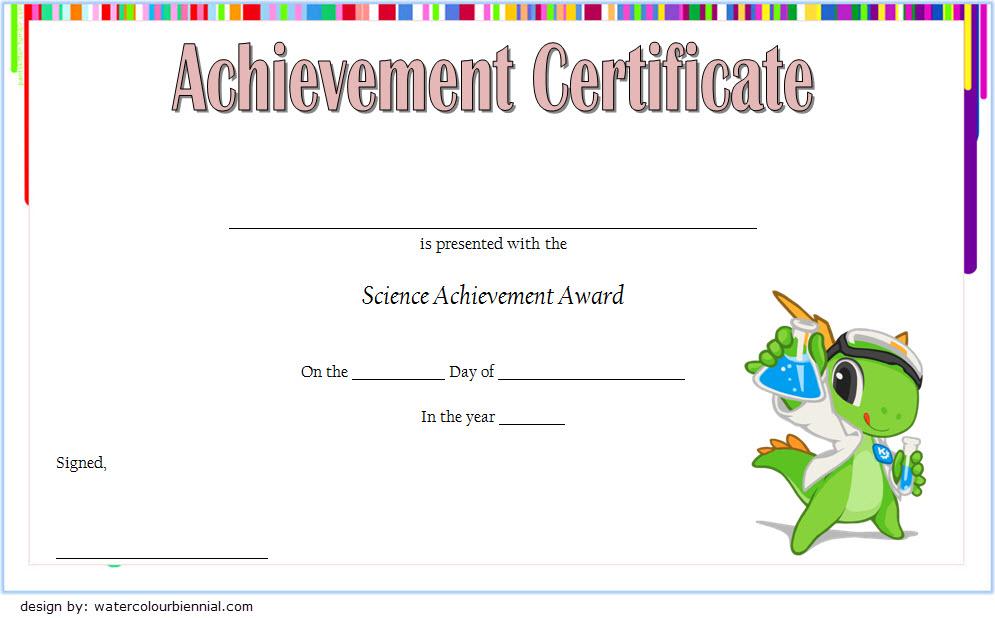 Science Certificate Of Achievement Template 1 Free for Science Achievement Certificate Template Ideas