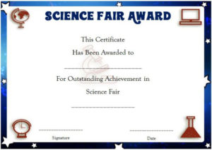 Science Fair Certificates : 14+ Printable Full Color intended for New Science Achievement Certificate Template Ideas