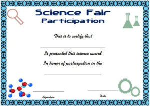 Science Fair Participation Certificate : 11+ Free Editable for Free 6 Printable Science Certificate Templates