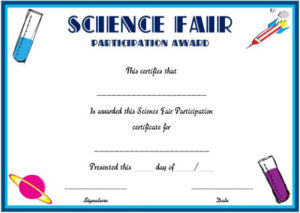 Science Fair Participation Certificate : 11+ Free Editable inside Science Fair Certificate Templates
