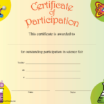 Science Participation Certificate Printable Certificate intended for Fresh 10 Science Fair Winner Certificate Template Ideas