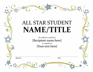Search Results For – Templates | Award Certificates, Awards within Star Certificate Templates Free