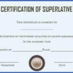 Senior Superlative Certificate Templates | Certificate Inside Superlative Certificate Template