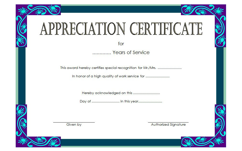 Service Certificate Template Free [11+ Top Ideas] inside Best Community Service Certificate Template Free Ideas