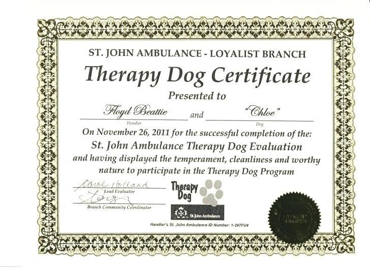 Service Dog Certificate Template (4) - Templates Example in Fresh Service Dog Certificate Template
