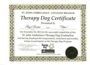 Service Dog Certificate Template (4) – Templates Example intended for New Service Dog Certificate Template