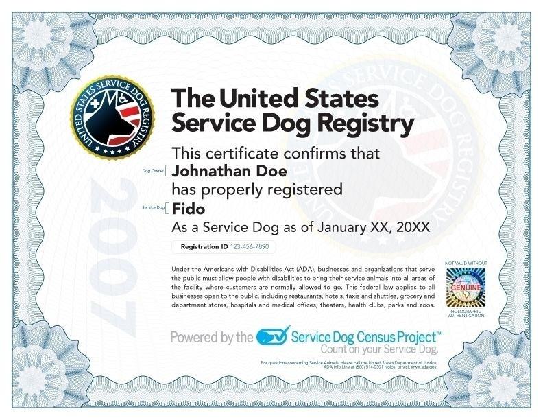 Service Dog Certificate Template Digitalhiten Com Animal regarding Service Dog Certificate Template