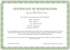 Service-Dog-Certificate-Template regarding Service Dog Certificate Template