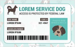 Service Dog Id Card Templates | Microsoft Word Id Card Templates throughout Fresh Service Dog Certificate Template