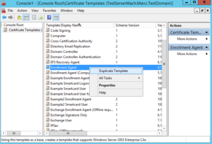 Setting Up Certificate Templates To Enroll On Behalf Of within Certificate Authority Templates