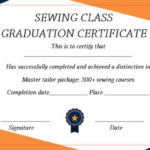 Sewing Certificate Template: 10 Templates Designed For Inside Training Completion Certificate Template 10 Ideas