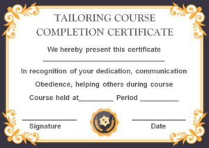 Sewing Certificate Template: 10 Templates Designed For inside Unique Dog Training Certificate Template Free 10 Best