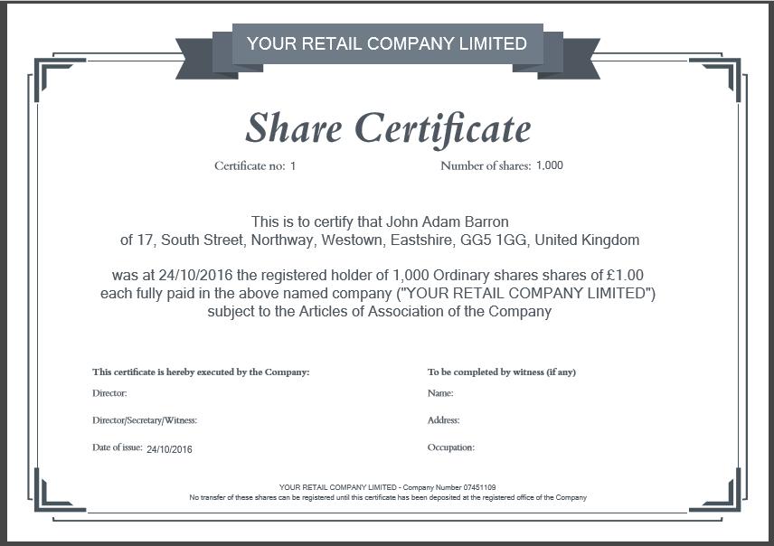 Share Certificate Template Companies House (2) - Templates Throughout Quality Share Certificate Template Companies House