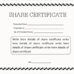 Share Certificate Template Pdf (8) – Templates Example With Share Certificate Template Pdf