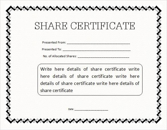 Share Certificate Template Pdf (8) - Templates Example with Share Certificate Template Pdf