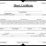 Share-Certificate-Template | Stock Certificates, Certificate intended for Template For Share Certificate