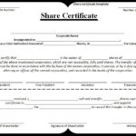 Share-Certificate-Template | Stock Certificates, Certificate throughout New Template Of Share Certificate