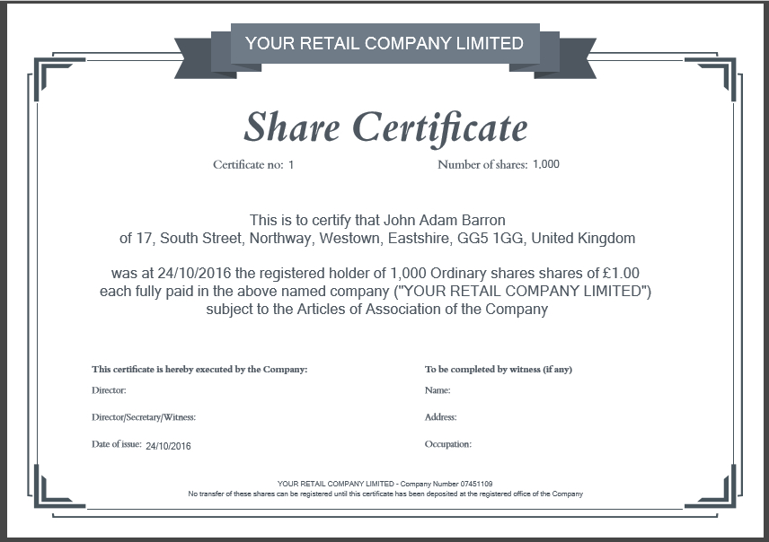 Share Certificate Template: What Needs To Be Included for Share Certificate Template Australia