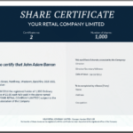 Share Certificate Template: What Needs To Be Included For Share Certificate Template Companies House