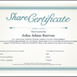 Share Certificate Template: What Needs To Be Included In Unique Shareholding Certificate Template