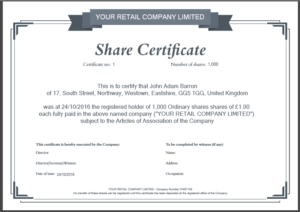 Share Certificate Template: What Needs To Be Included intended for New Template Of Share Certificate
