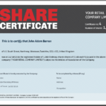 Share Certificate Template: What Needs To Be Included Regarding Share Certificate Template Companies House