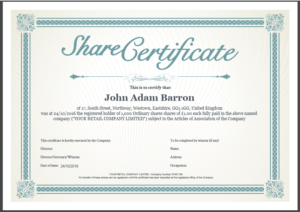 Share Certificate Template: What Needs To Be Included Within Corporate Share Certificate Template