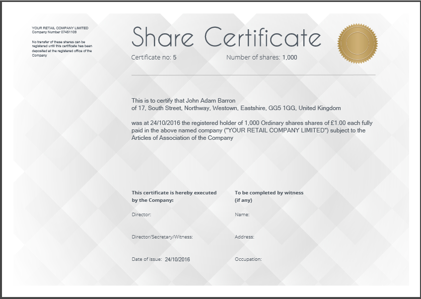 Share Certificate Template: What Needs To Be Included Within Quality Share Certificate Template Companies House