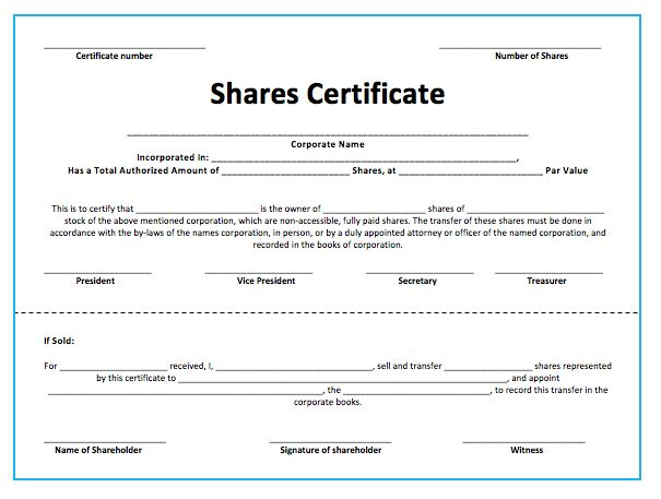 Share Certificate Template (With Images) | Certificate pertaining to Share Certificate Template Australia