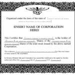 Share Certificate Templates   Certificate Template Downloads For Unique Share Certificate Template Pdf