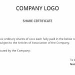 Shareholders Agreement & Share Certificate Template Uk | Dns Intended For Share Certificate Template Companies House